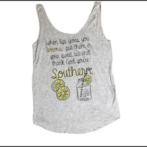 Tank top super soft comfortable southern saying